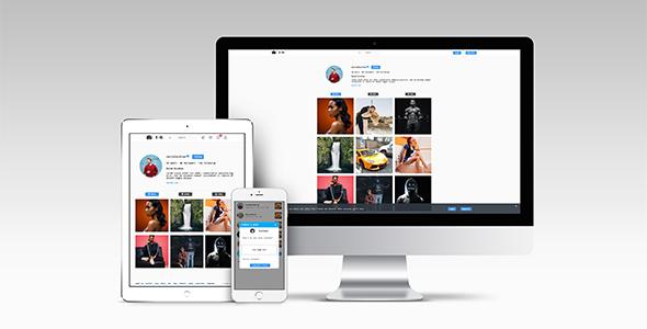 EventGram Social Network | Photo sharing HTML User Interface (UI)