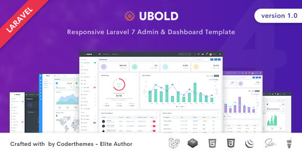 Ubold - Laravel Admin & Dashboard Template