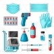 Set of Medical Equipment and Protection - GraphicRiver Item for Sale