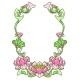 Frame with Lotus Flowers. Art Nouveau Vintage - GraphicRiver Item for Sale