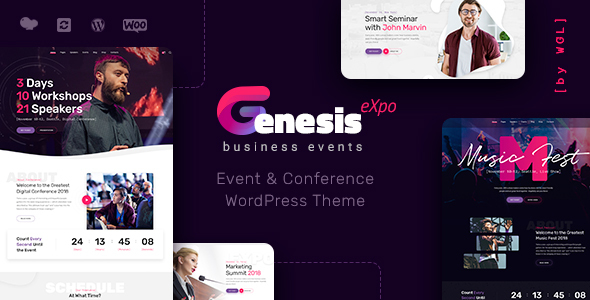 GenesisExpo | Business Events & Conference WordPress Theme