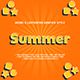 5 Summer Text Effect Graphic Styles Vector - GraphicRiver Item for Sale