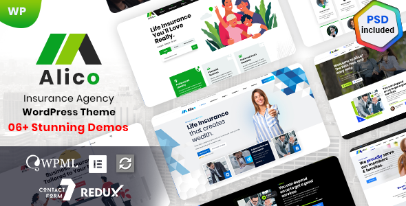 Alico – Insurance Agency WordPress Preview