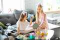 Mother and daughter, sisters have quite, beauty and fun day together at home. Comfort and - PhotoDune Item for Sale