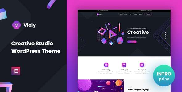 Photo of Violy – Creative Studio WordPress Theme Full Download