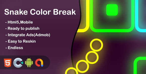 Snake Color Break - Html5 Game and Mobile ( Contruct 3) Download