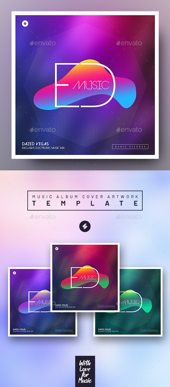Edm – Electronic Music Album Cover Template