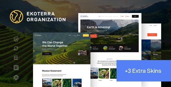 Ekoterra – NonProfit & Ecology WordPress Theme Preview