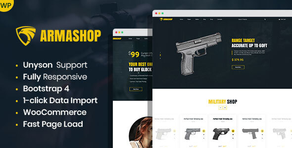 Armashop - Guns and Ammo WooCommerce theme