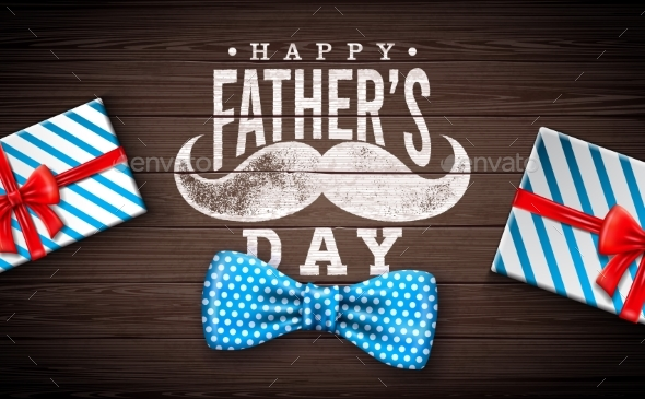 Happy Father's Day Greeting Card Design