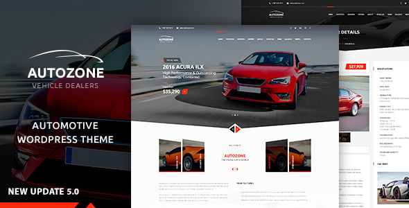 Autozone - Auto Dealer & Car Rental Theme Download