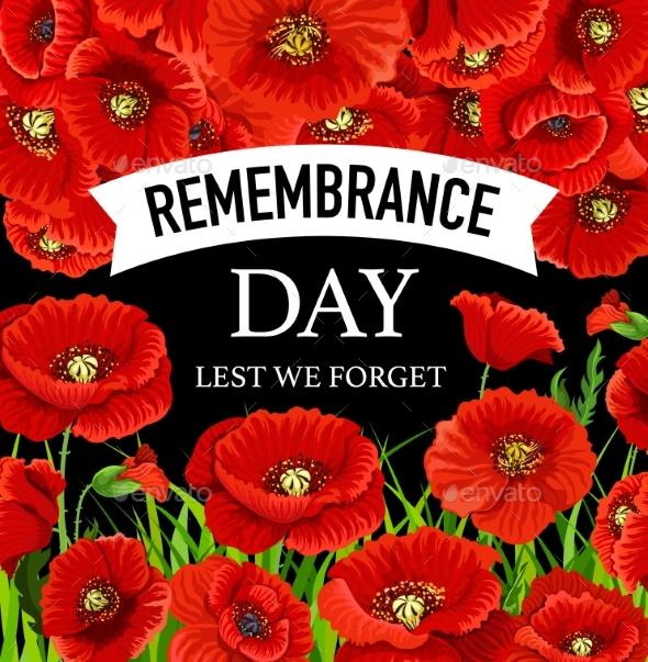 Remembrance Day November 11. Vector