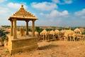 Bada Bagh cenotaphs Hindu tomb mausoleum . Jaisalmer, Rajasthan, India - PhotoDune Item for Sale