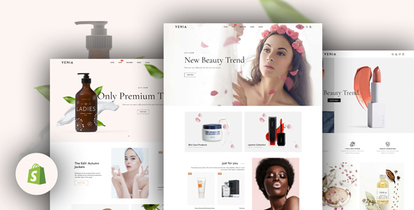 Venia - Beauty & Cosmetics Shop Responsive Shopify Theme