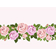 Pale pink roses seamless design for cards - GraphicRiver Item for Sale