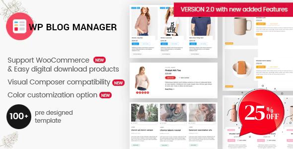WP Blog Manager - Plugin to Manage / Design WordPress Blog Download