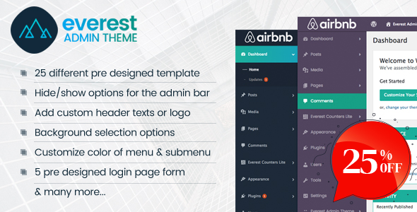 Everest Admin Theme - WordPress Backend customizer Download