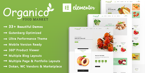 Organico | Organic Food WooCommerce WordPress Theme