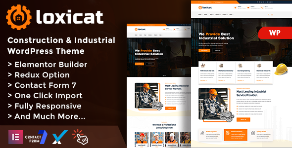 Photo of Loxicat – Construction & Industrial WordPress Theme Full Download