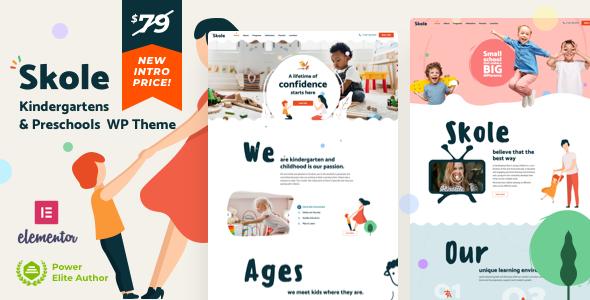 Skole – School Kindergarten WordPress Elementor Preview