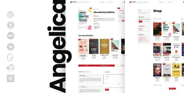 Photo of Angelica – Accessible Bookstore WordPress theme Full Download