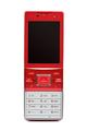 Red vintage slider phone on white background - PhotoDune Item for Sale