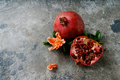 Pomegranate fruits with flowering branches - PhotoDune Item for Sale