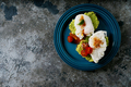 Avocado toasts with poached egg on the plate - PhotoDune Item for Sale