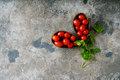 Cherry tomatoes in avocado skin decorated with parsley - PhotoDune Item for Sale