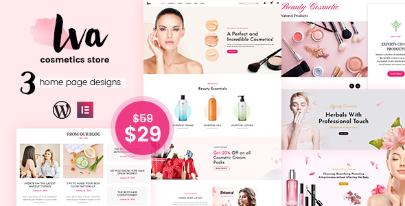 Photo of Iva – Beauty Store, Cosmetics WordPress Theme Full Download