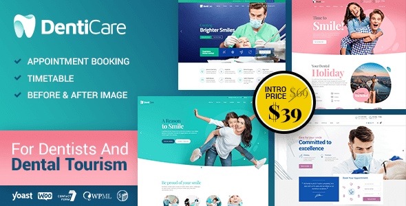 Photo of DentiCare – WordPress Theme for Dentist & Dental Clinic Full Download