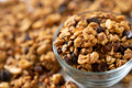 Granola cereal with oats, pumpkin seeds, walnuts, and raisins - PhotoDune Item for Sale