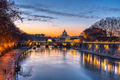 Dramatic sunset over the St. Peters Basilica - PhotoDune Item for Sale