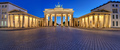 Panorama of the illuminated Brandenburg Gate in Berlin - PhotoDune Item for Sale