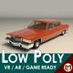Low Poly Sedan Car 09 - 3DOcean Item for Sale