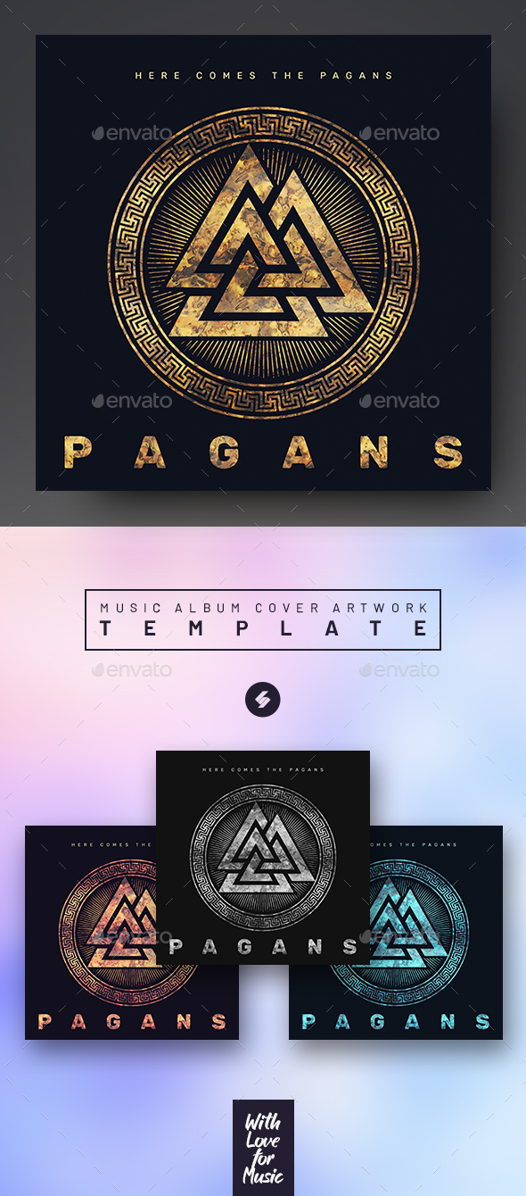 Pagans – Music Album Cover Template