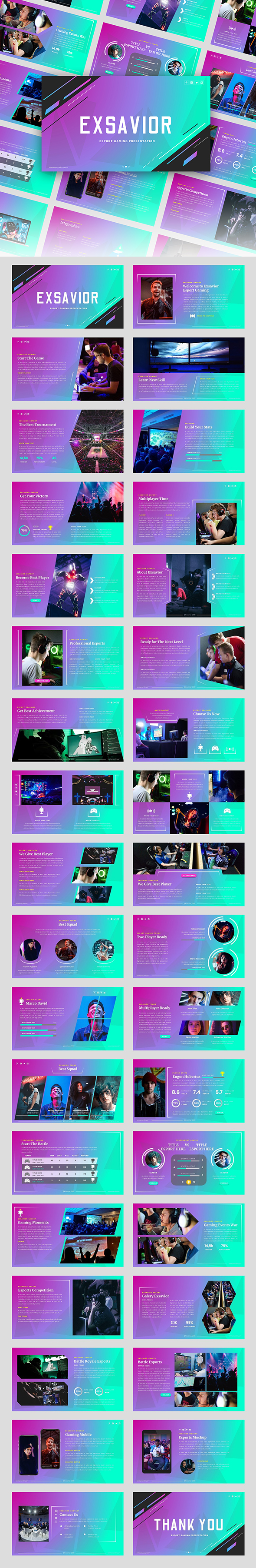 Exsavior - Gaming PowerPoint Template