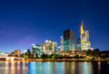 Skyline of Frankfurt at the Main river at night - PhotoDune Item for Sale