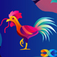 Rooster Holding Worm - GraphicRiver Item for Sale