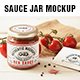 Sauce Jar Label Mockup - GraphicRiver Item for Sale