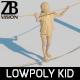 Lowpoly Kid 017 - 3DOcean Item for Sale
