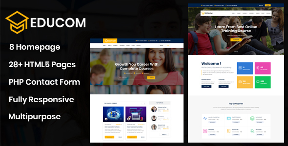 Educom - Education and LMS Template