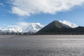 empty asphalt highway with snow mountain background - PhotoDune Item for Sale