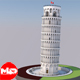 Highly Detailed Low Poly Leaning Tower of Pisa - 3DOcean Item for Sale