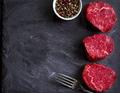 Raw filet mignon steaks - PhotoDune Item for Sale