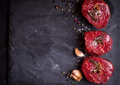 Raw filet mignon steaks with spices - PhotoDune Item for Sale