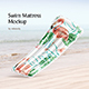 Swim Mattress Mockup - GraphicRiver Item for Sale