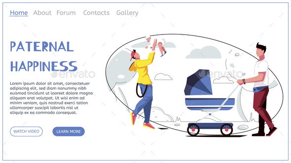 Parental Happiness Landing Page