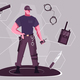 Security Man Flat Design Concept - GraphicRiver Item for Sale