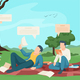 Modern Students Flat Composition - GraphicRiver Item for Sale